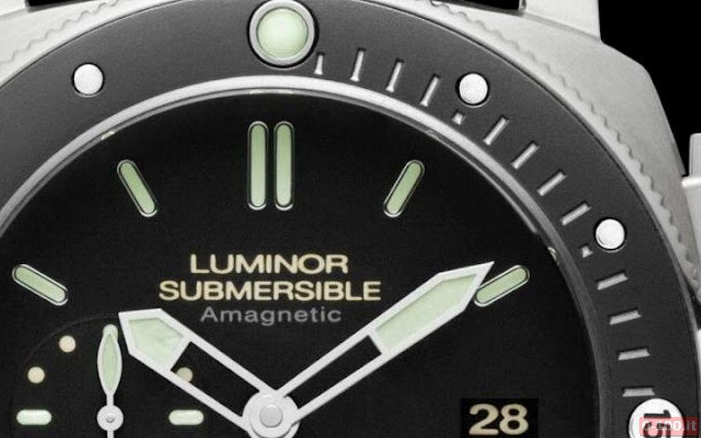 Officine Panerai Luminor Submersible 1950 Amagnetic Titanium - PAM 389 - 0-100.it