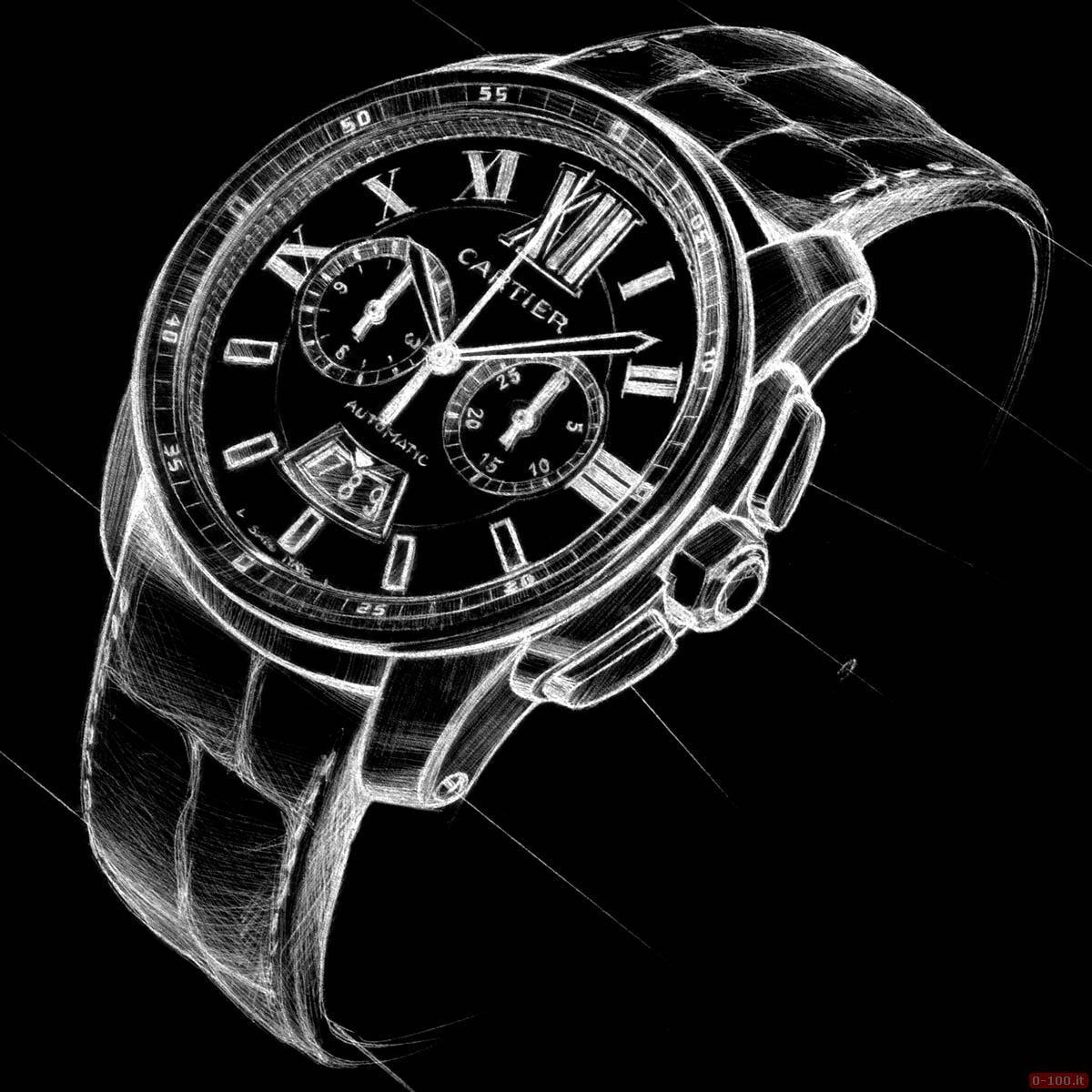 Cartier Calibre Chronograph Watch _0-1001