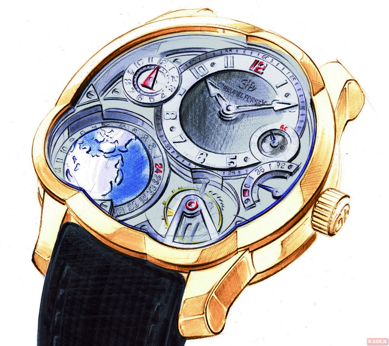 0-100.IT | Greubel Forsey GMT Oro Rosso