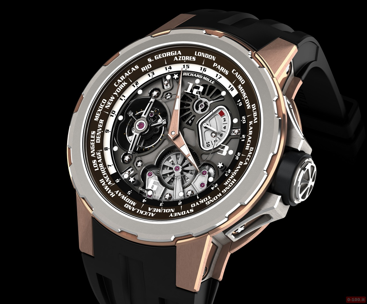 0-100.it | Richard Mille RM 58-01 World Timer Jean Todt Limited Edition