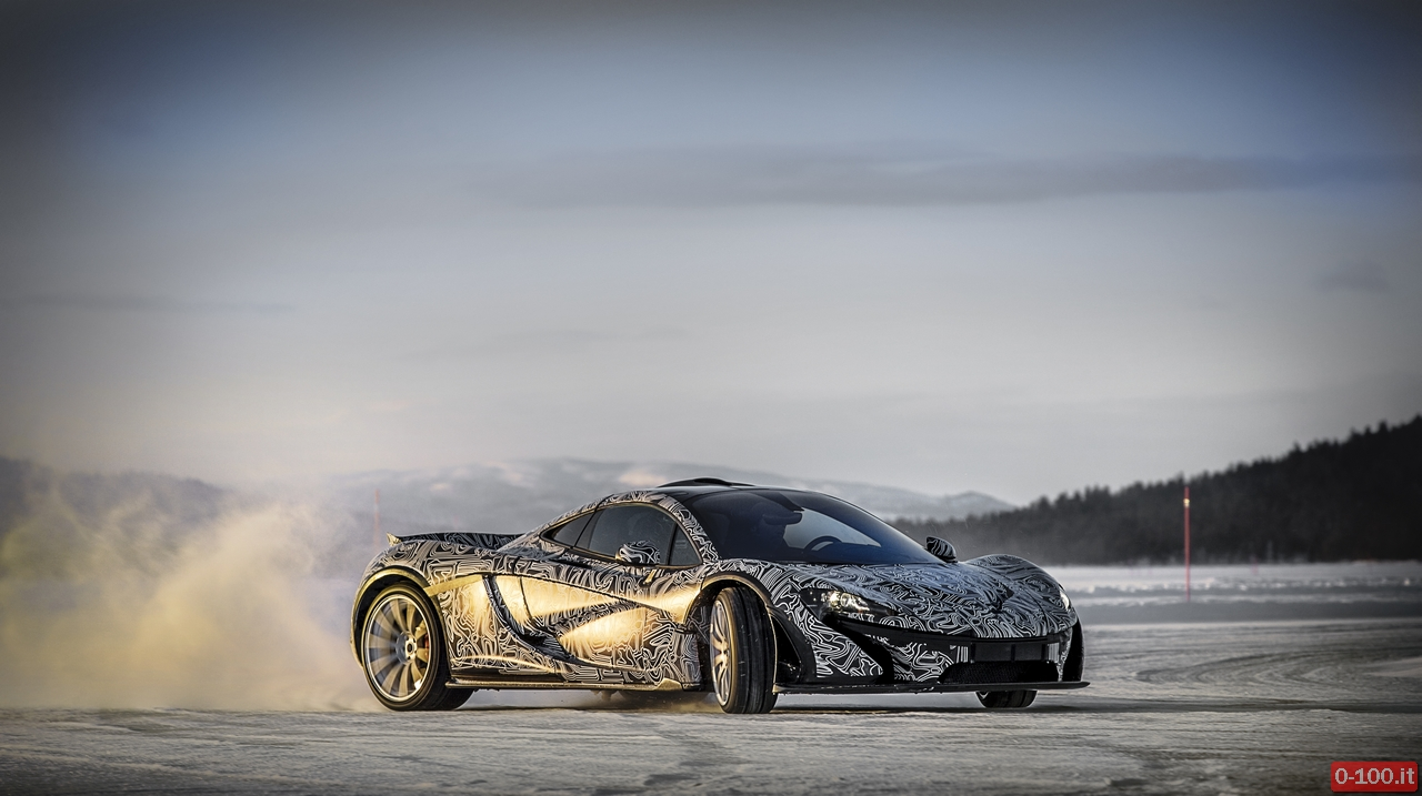 McLaren P1™ Winter Testing in Arjeplog Sweden 2013