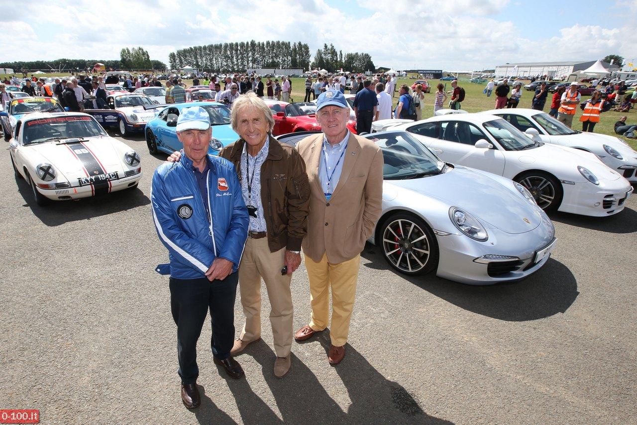 Richard Attwood, Derek Bell and John Fitzpatrick at the Porsche 911 celebration