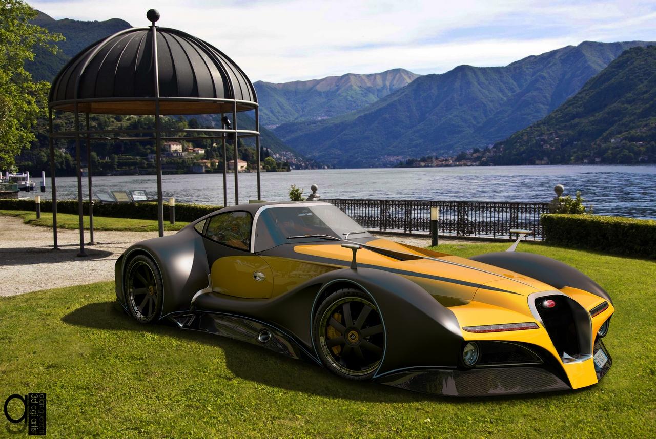 Bugatti 12.4 Atlantique Concept by Alan Guerzoni _50-100