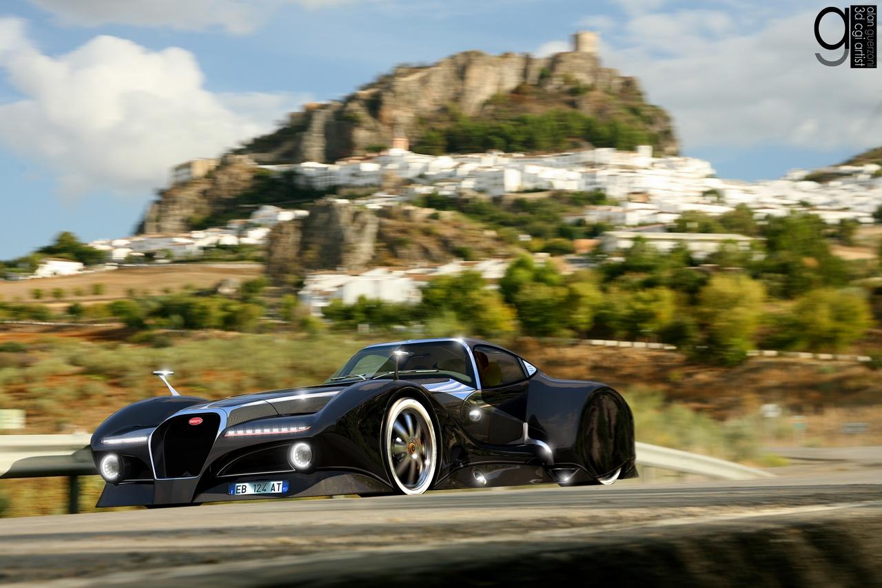 Bugatti 12.4 Atlantique Concept by Alan Guerzoni _80-100