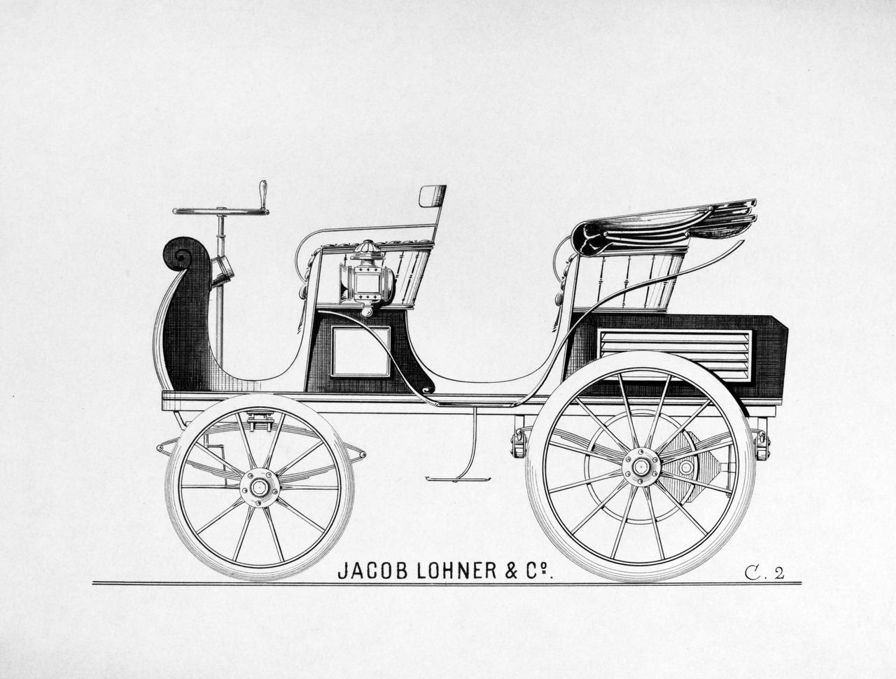 """Egger-Lohner C.2 Phaeton, nota come la """"P1"""", è la prima auto progettata e costruita da Ferdinand Porsche_0-100_2"""