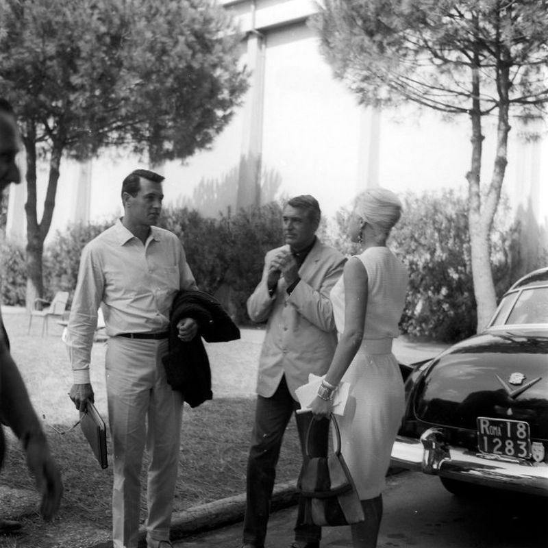 Jack Hudson e Cary Grant a Cinecittà, Giugno 1961,