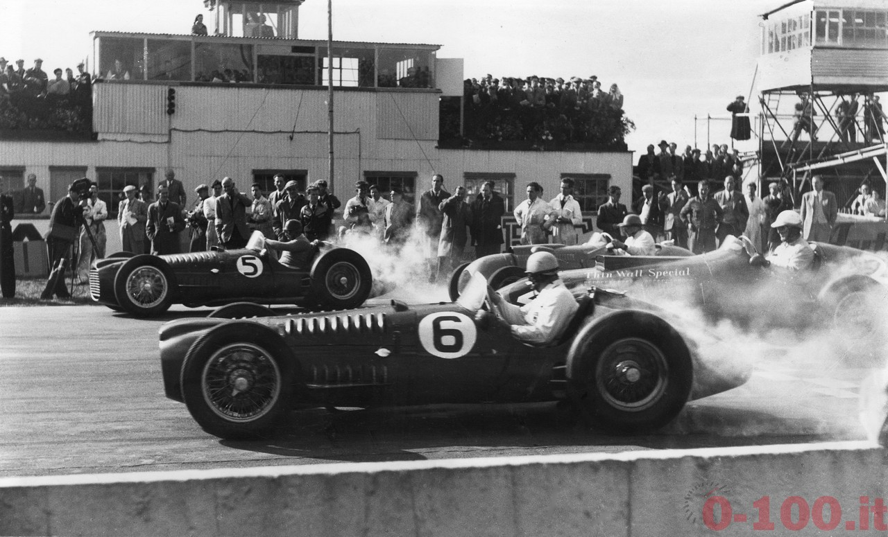 Gonzalez driving the BRM V16 (No.5) - this is the NMM vehicle. Goodwood 1950