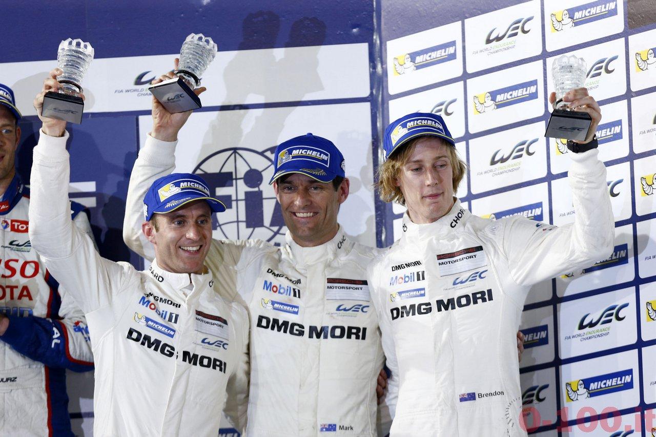 Porsche Team: Timo Bernhard, Mark Webber, Brendon Hartley