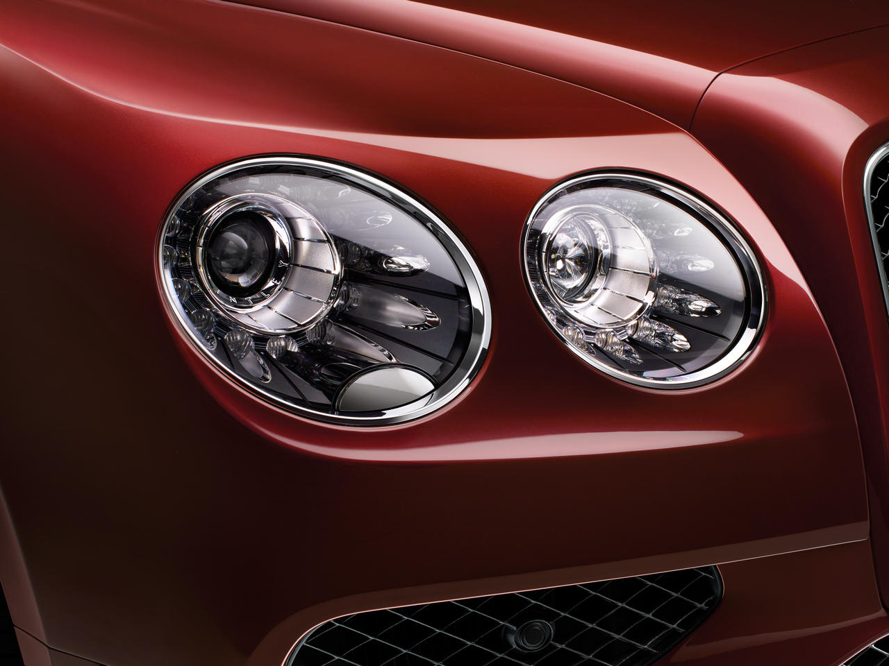 Bentley Flying Spur V8 S Headlight Detail