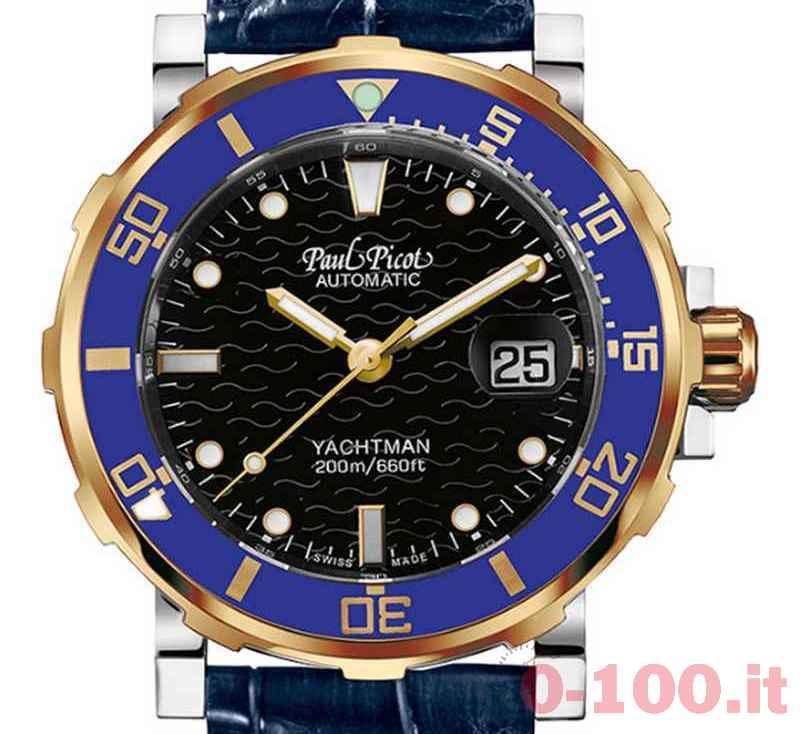 Paul Picot Yachtman III Acciaio e Oro Classic Blu 43mm Ref. PAU191 ...