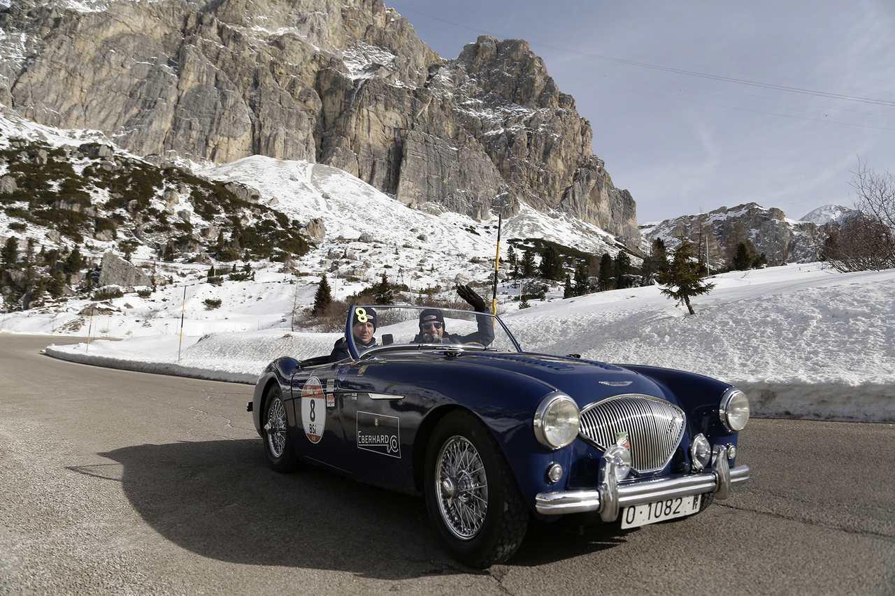 Winterrace_2017_Piona- Battagliola su Austin Healey 100 BN1 del 1955