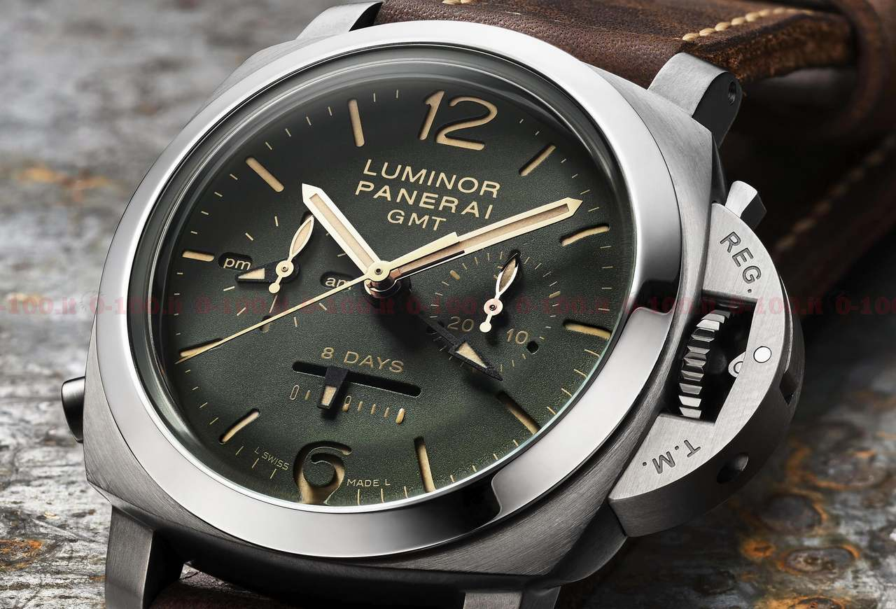 Officine Panerai Luminor 1950 Chrono Monopulsante 8 Days GMT Titanio PAM00737_price_0-100