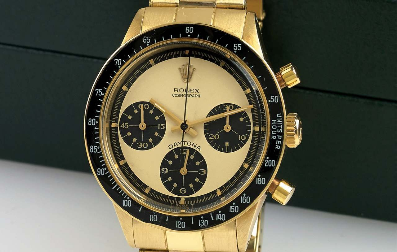 OLEX REF. 6241 14K GOLD DAYTONA PAUL NEWMAN Rolex, Cosmograph Daytona, No. 2084320, Ref. 6241.-source-antiquorum_0-100