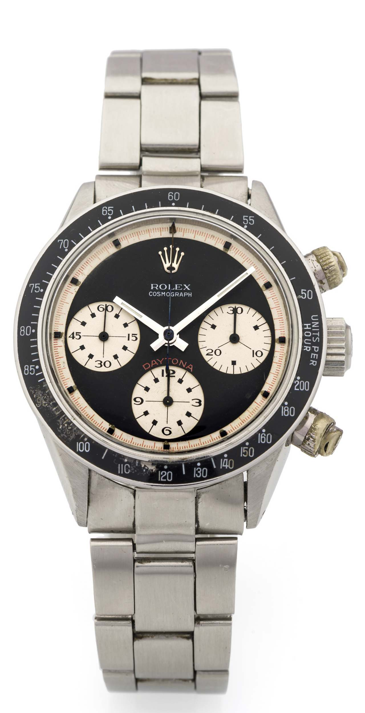 ROLEX, REF. 6240 PAUL NEWMAN COSMOGRAPH DAYTONA STEEL Rolex, Cosmograph, Daytona,case No. 1658192, Ref. 6240.source-antiquorum_0-100