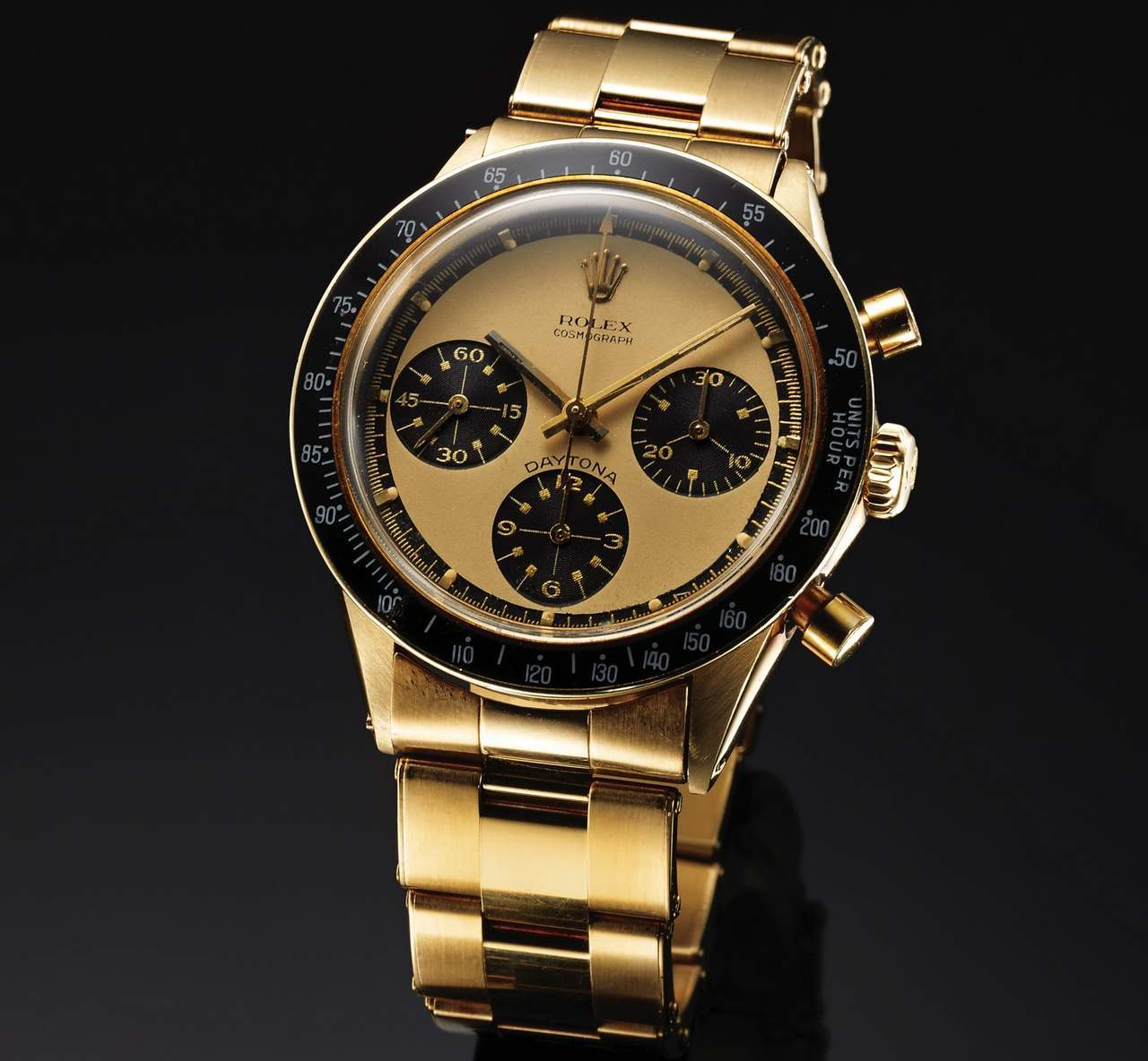 ROLEX REF. 6241 COSMOGRAPH DAYTONA PAUL NEWMAN 14K YELLOW GOLD Rolex, Cosmograph Daytona, No. 2084311, Ref. 6241-source-antiquorum_0-100