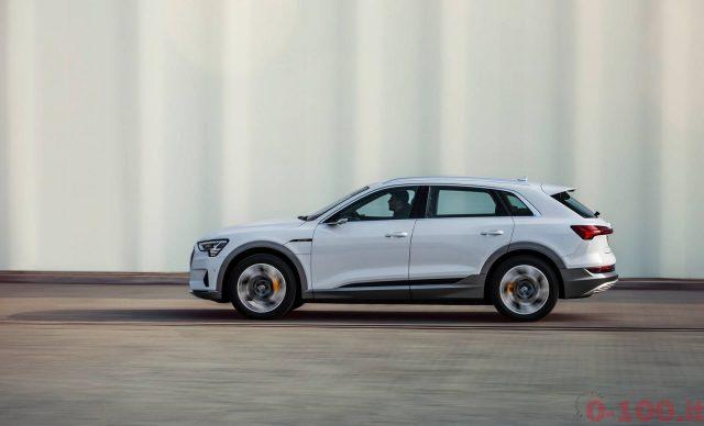 E-tron 50: Audi introduce una versione meno potente di e-tron